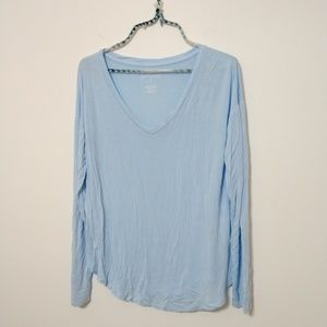 American Eagle light blue long sleve size M